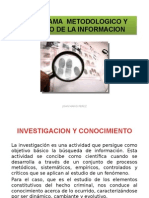 Programa Metodologico y Manejo de La Informacion