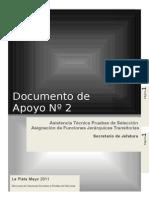 Documento de Apoyo N° 2 Pruebas de Selección 2011Secretario  de Jefatura