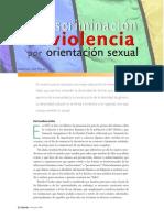 De la discriminación a la violencia por orientación sexual