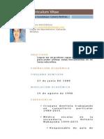 Curriculum de Gloria Guadalupe Camelo Beltrán
