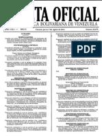 Gaceta Oficial deGaceta Oficial de La República Bolivariana de Venezuela 40470 La República Bolivariana de Venezuela 40470.pdf