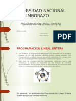 Programacion Lineal Entera Exposicion