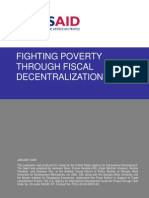 Fighting Poverty Fiscal Decentralization USAID