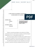 (HC) Garza v. On Habeas Corpus - Document No. 4