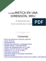 Cinematica 1D, MRU