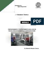 Pretfratamiento y Postratamiento en El Uso de Tecnologias de Membranas Configuradas