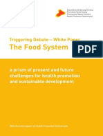 Triggering Debate – The Food System White Paper
