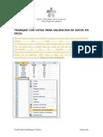Excel Listas, Validacion de Datos1