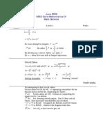 C1 May 2006 Mark Scheme