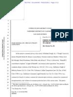 Google Privacy Lawsuit First Dismissal Dec 2012