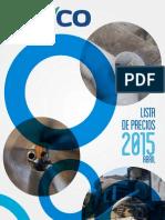 Lista Precios Pavco 2015