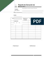Ficha de registro donación