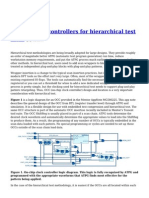 Design clock Controllers for Hierarchical Test