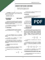 Movimiento Rectilineo Uniforme (MRU - MR)