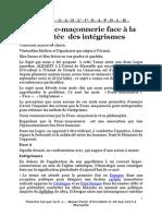 La Fm Face a La Montee Des Integrismes - V1
