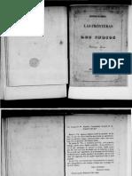ARCOS, Santiago - Cuestion de Indios, Las Fronteras y Los Indios (1860)