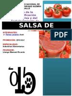 elaboración de salsas de tomate