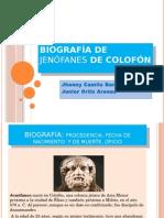Biografía de Jenófanes de Colofón