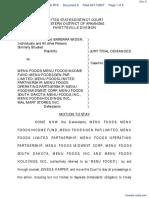 Widen et al v. Menu Foods et al - Document No. 8