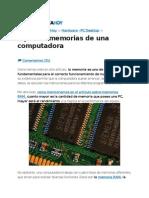 Tipos de memorias en PC's