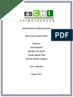 manual de mantenimiento de computo