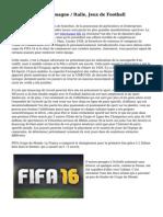 L'histoire De l'Allemagne / Italie, Jeux de Football