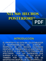 NIA 560 HECHOS POSTERIORES.ppt