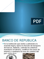 Diapositiva Banco de La Republica de Colombia