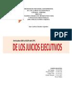 De Los Juicios Ejecutivos (Art. 630 Al 639 Cpc-úrsula)