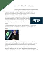 Whatsapp Empresa Matriz No Afecta Al Desarrollo de La Adquisición Facebook