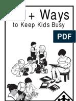 101+ Ways to Keep Kids Busy
