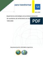 Formar Para Transformar-profesionalizacion de Aux de Enf-ops