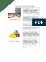 Maquinaria y Equipos Utilizados en Mineria - Balaram Gallegos