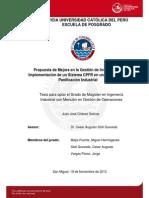 Chavez Juan Mejora Gestion Inventarios Implementacion Sistema Cpfr Industria Planificacion Industrial