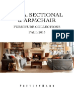 Pottery Barn Upholstered Sofa, Sectional & Armchair Collection- Fall 2015