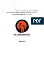 National Congress Submission to Exposure Draft of RDA Bill