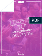 Tendencias 2015 en Organizacion de Eventos