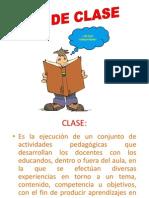 PLAN de CLASE 2015