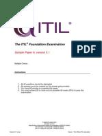 English Sample Exam 1 Itil Foundation 201312
