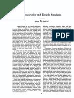 KIRKPATRICK Dictatorships & Double Standards COMMENTARY Nov79
