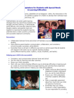 classroom adaptations for students with special needs