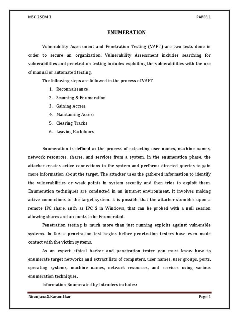 Enumeration | Domain Name System | File Transfer Protocol