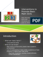 decoste basic math skills presentation