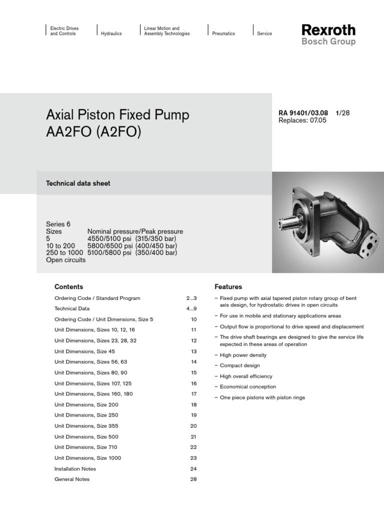 A2FO710 Catalogue | Rotation Around A Fixed Axis | Pump
