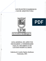 GUIA GENERAL DE ASPECTOS NECESARIOS PARA  EL DESARROLLO DE CENTROS HOSPITALARIOS