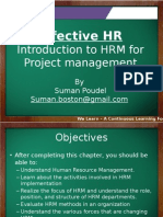 HRM for Project Management