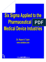 Six Sigma Applied to the Pharmaceutical and Medical Device Industries
