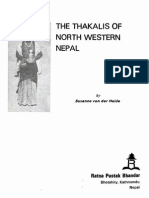 1988 Thakalis of North Western Nepal by Von Der Heide s