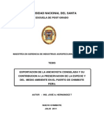 Tesis Anchoveta Congelada de Exportacion
