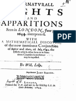 Lilly, William - 1644 - Supernaturall Sights and Apparitions